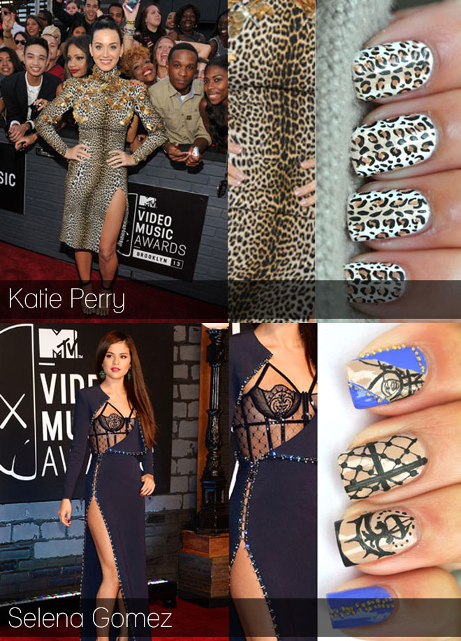 VMA inspired nail art