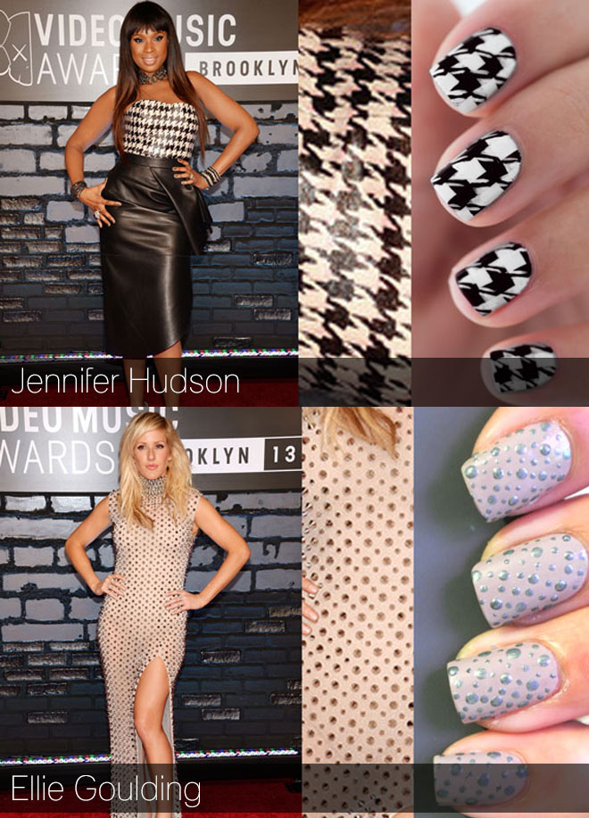 Celeb-inspired nail art from the VMA's