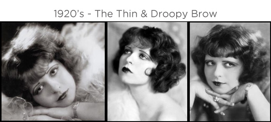 Eyebrows through the ages - 1920s