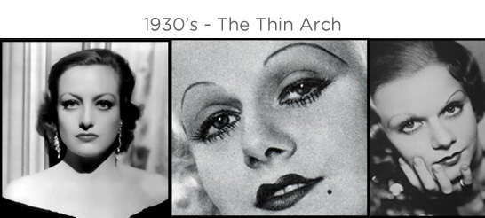 Eyebrows through the ages - 1930s