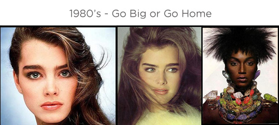 Eyebrows through the ages - 1980s
