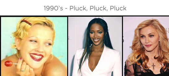 Eyebrows through the ages - 1990s