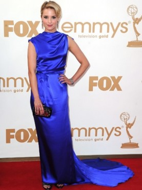 Dianna Agron at the Emmys