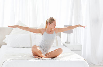 Do yoga – in bed