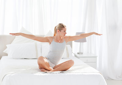 Do yoga - in bed