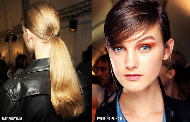 Hair trends for 2013 - Easy ponytails and Sweeping fringes