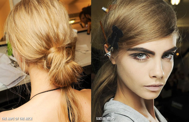 Hair trends for 2013 - The nape of the neck and Sixties Retro