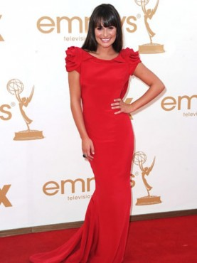 Lea Michele at the Emmys