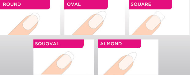 Weve Put Together A List Of The Most Common Nail Shapes And What Defines Them