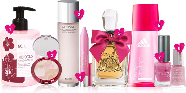 Pretty pink products