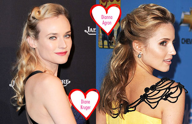 Romantic hairstyles from the stars