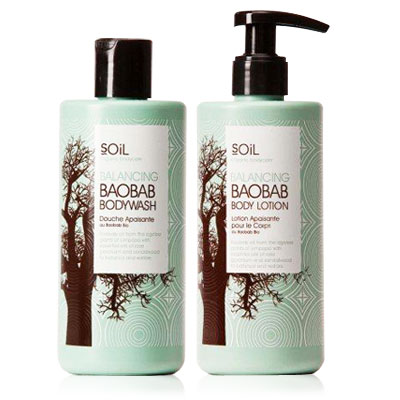 SOIL Baobab Body Wash and Body Lotion