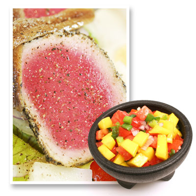Sumptuous summer recipes: Seared tuna with fresh mango salsa