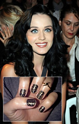 katy perry leopard nails