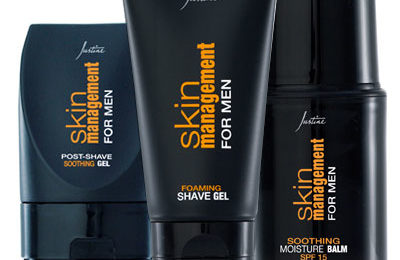 Men's shaving products from Justine