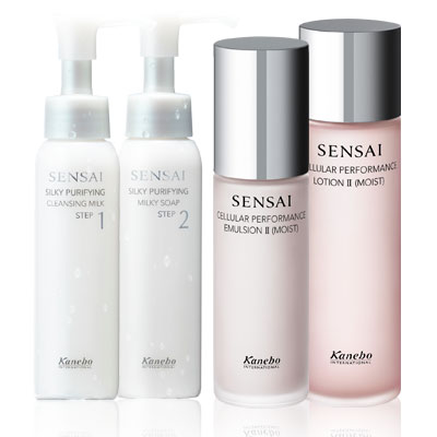 Sensai Silky Purifying Cleansing kit and Cellular Performance kit
