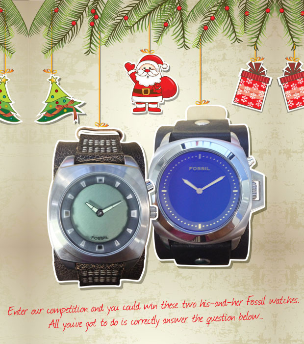 WIN His & Her Fossil watches