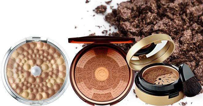 Bronzing powder summer make-up