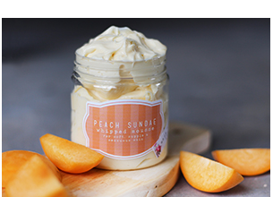 Hey Gorgeous Peach Sundae Whipped Mousse