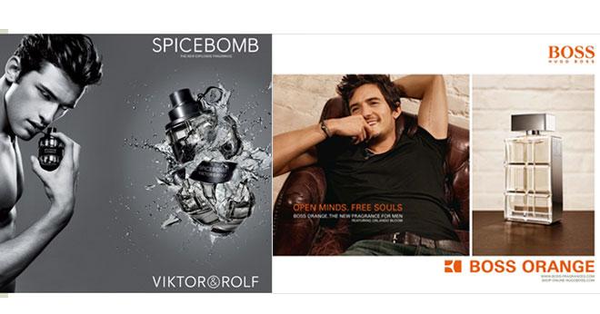 Viktor & Rolf and Hugo Boss Orange adverts