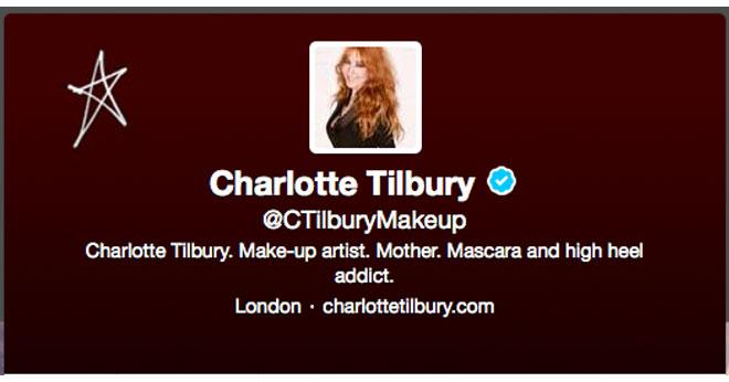 Charlotte Tilbury on Twitter