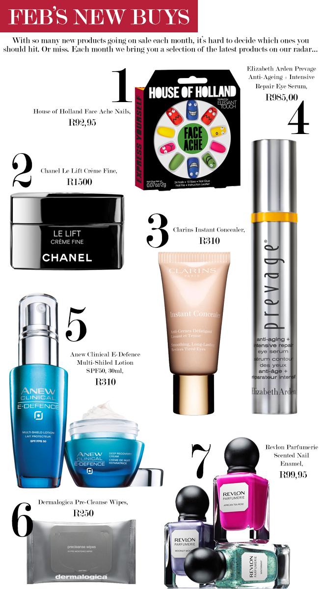 February 2014's new beauty buys