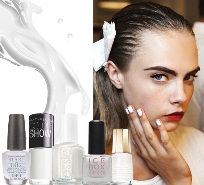 White nail polishes