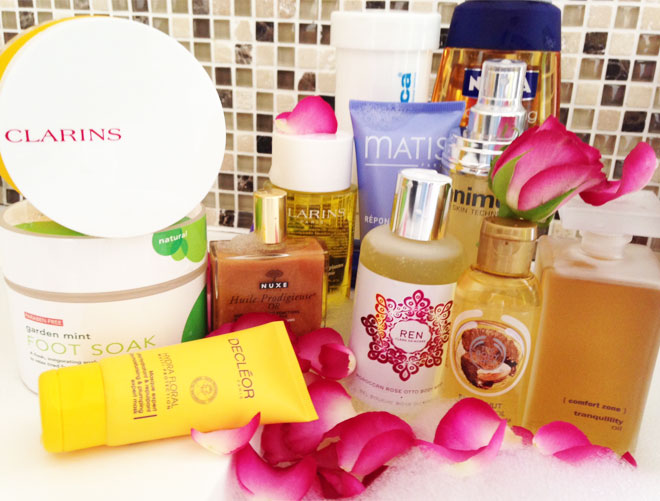 At-home body pamper products