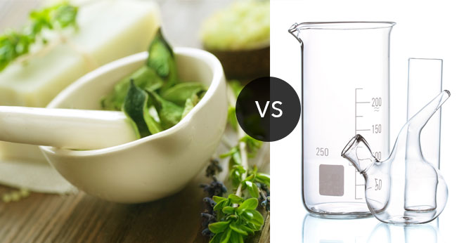 Natural versus chemical beauty products