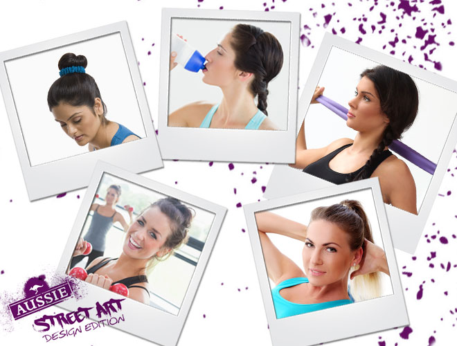 Easy gym hairstyles brought to you by Aussie