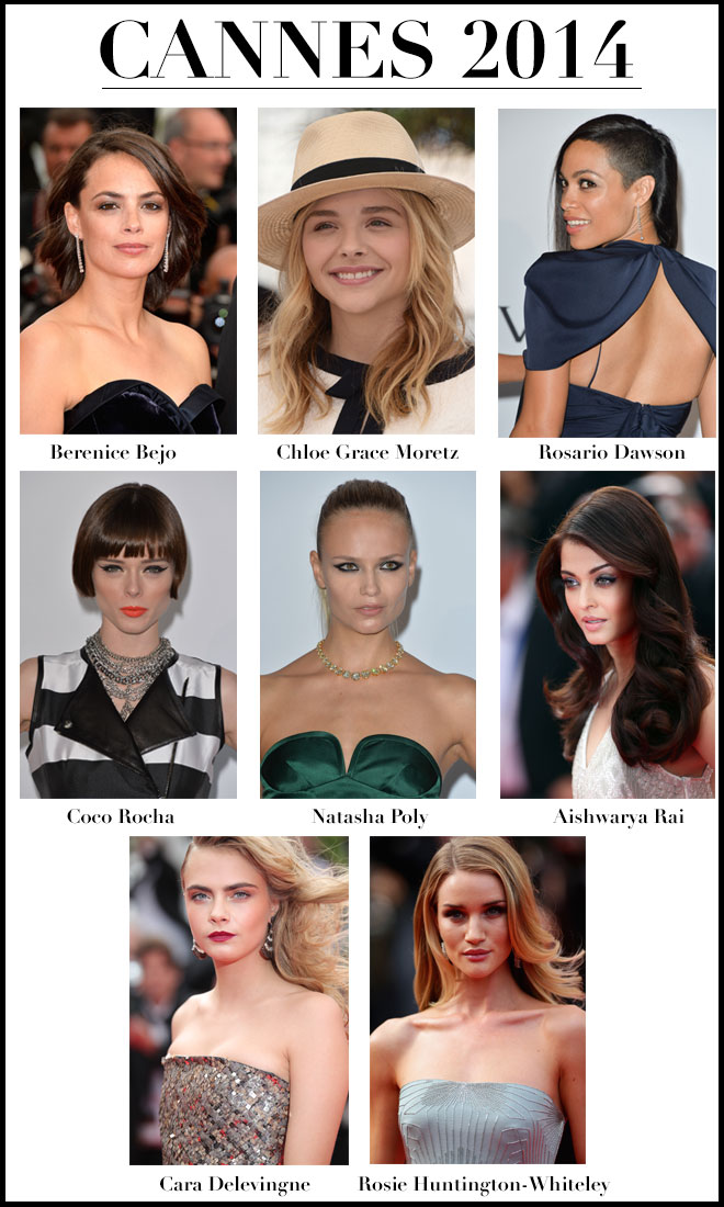 Hair and makeup looks from Cannes 2014