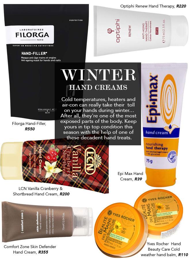 winter hand creams