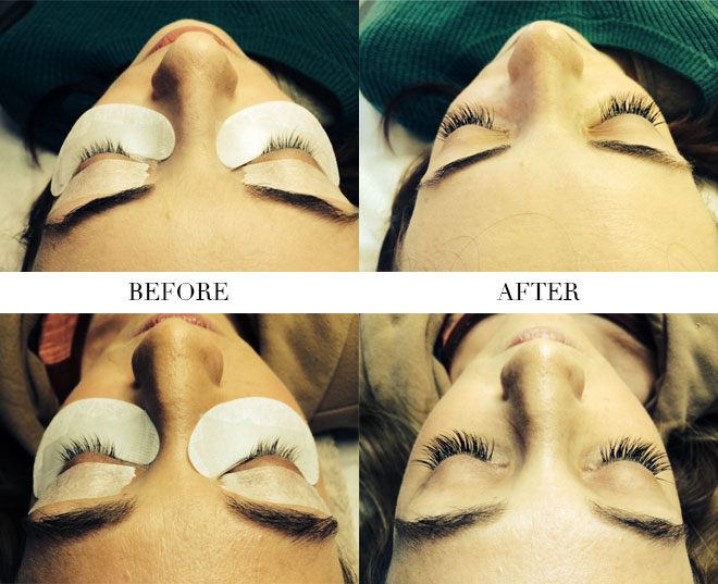 Eyelash extensions at Ageless Faces