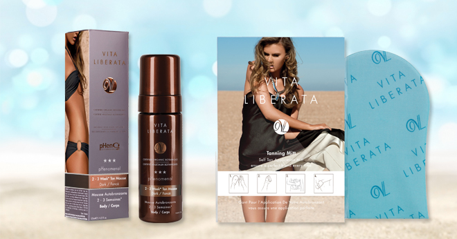 win vita liberate self tan products
