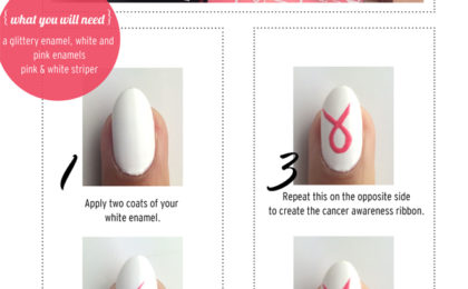DIY nail art for Breast Cancer Awareness Month