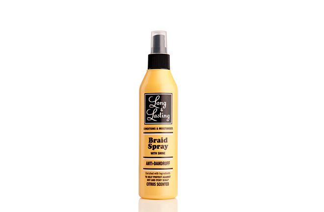 Long & Lasting anti-dandruff braid spray