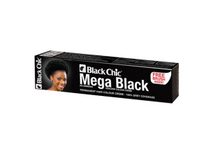Black Chic Mega Black Permanent Hair Colour Crème