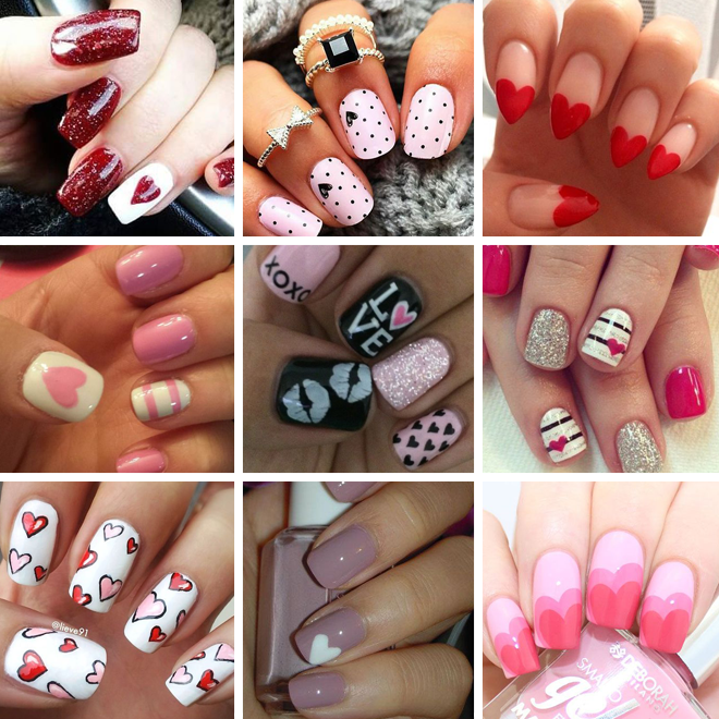 Valentine's Day nail art inspiration 1