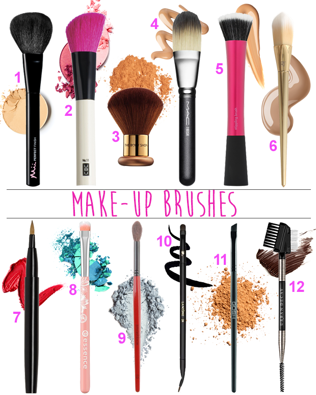 Decode make-up brushes 1