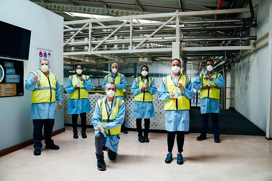 L'Oréal South Africa produces hand sanitisers to fight the spread of COVID-19 2