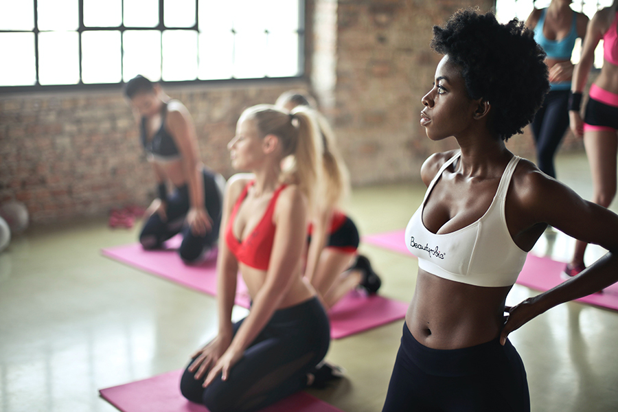 Acne and sweating during exercise 1