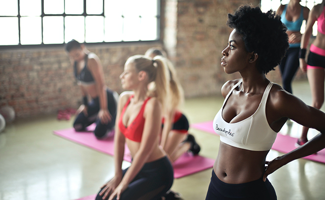 Acne and sweating during exercise