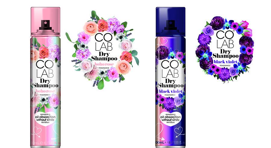 Introducing COLAB Boho Rose and Black Violet Dry Shampoo 1
