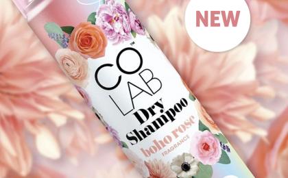 Introducing COLAB Boho Rose and Black Violet Dry Shampoo
