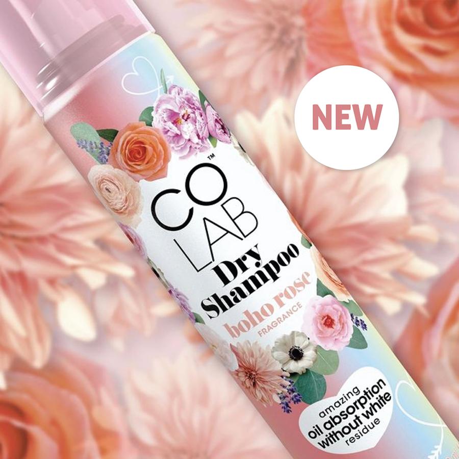 Introducing COLAB Boho Rose and Black Violet Dry Shampoo 2